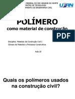 Aula 10- Polímeros