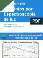 Análise de Alimentos Através de Espectroscopia de Luz - Pontes e Lacerda
