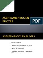Asentamientos en Pilotes