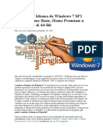 Cambiar El Idioma de Windows 7 SP1 Starter