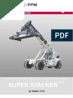 Equiport Empilhadeira Para Manuseio de Conteiner Cheio Reach Stacker Terex Modelo Tfc45 659687
