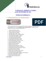 Boletin Semanal Indesgua 36-2016 - Convocatorias Abiertas Al 18 de Septiembre de 2016