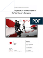 Toyota Motor Corporation OB Assignment