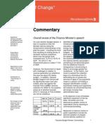 Budget 2010 - 2011 - Summary