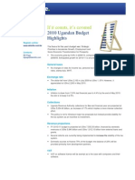 Budget Highlights Uganda