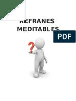 REFRANES MEDITABLES