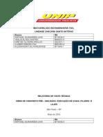 APS - Relatótios Vigas, Pilares e Lajes