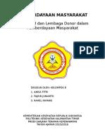 Makalah Lsm Dan Lembaga Donor Kelompok 8