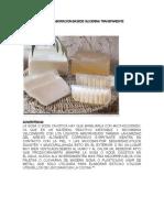 Fórmula Para La Elaboracion Basede Glicerina Transparente