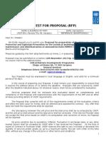UNDP Zahtjev Za Ponudu Doboj