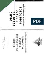 Ruggiero-Delitos de Los Debiles y de Los Poderosos.ejercicios de Anticriminologia