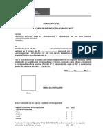 Carta de Presentacion y Ddjj