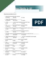 Vocabulary For PET. Test Unit1-5