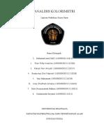 Laporan Praktikum Analisis Kolorimetri