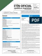 Boletín Oficial de la República Argentina, Número 33.499. 08 de noviembre de 2016