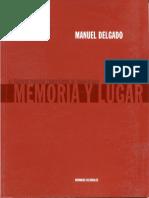 Memoria y Lugar - Manuel Delgado