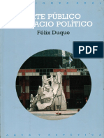 Arte Público y Espacio Político - Felix Duque
