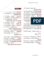 WBJEE 13 Solution - Physics