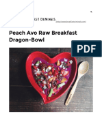 Peach Avo Raw Breakfast Dragon-Bowl