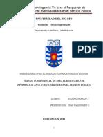 Plan de Contingencia Tic Para El Resguardo de Informacion Ante Eventualidades en El Servicio Público