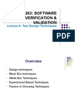Lecture 6 - Test Design Techniques