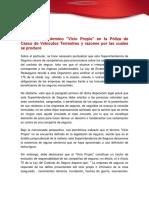 Concepto Del Termino Vicio Propio en La Poliza de Casco de Vehiculos Terrestres (1)