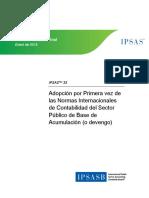 NICSP33 ADOPCION