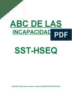ABC de Las Incapacidades Sst-hseq