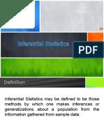 6.0 Inferential Statistics