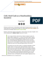 Cold, Hard Cash as a Handwashing Incentive - Freakonomics Freakonomics