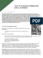 El Concepto de Locura en El Ingenioso Hidalgo Don Quijote de La Mancha y en Hamlet