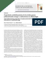 Propiedades Antiinflamatorias de Los Ácidos Grasos Poliinsaturados Omega-3. Indicaciones en Oftalmología