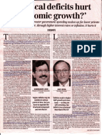 Do Fiscal Deficit Hurt Economic Growth