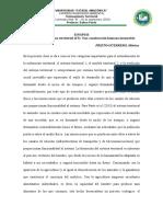 Analisis El Sistema territorial (ST)