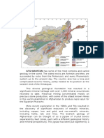 Afghanistan Geological Overview
