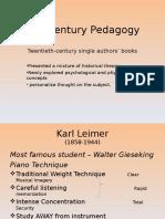 20th Century Pedagogy