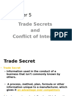 Trade Secret Conflict of Interest