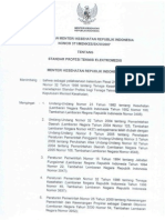 Kepmenkes 371-2007 Standar Rofesi Teknisi Elektromedis