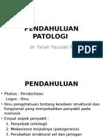 PENDAHULUAN PATOLOGI FARMASI D3