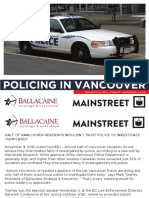Mainstreet - Policing in Vancouver