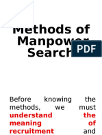 Methods of Manpower Search