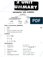 Maths 2 Unit Notes - Full Summary