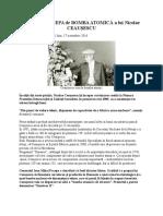 !Ce Spunea Pacepa de Bomba Atomica a Lui Ceausescu