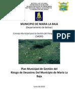 Plan Gestión de Riesgo Marialabaja
