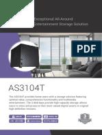Asustor 4-Bay NAS Server with Intel Celeron 1.6GHz Dual-Core Processor & 2GB DDR3L Memory datasheet