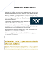 The List of Millennial Characteristics