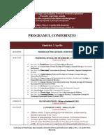 Program Conferinta Sper 2016
