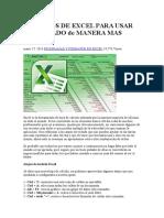 35 Trucos de Excel Para Usar El Teclado de Manera Mas Facil