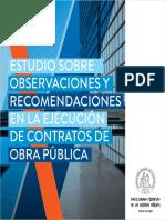 Estudio sobre observaciones y recomendaciones en la ejecución de contratos de obra pública