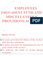 The Employees Provident Fund and Miscellaneous Act 1952